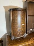 Antique Oak Record Cabinet