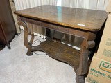Vintage Oak Library or Dining Table
