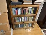 Antique barrister bookcase plus books inside