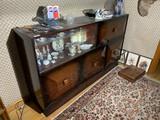 Art Deco c. 1930 Lacquered Desk/China Cabinet