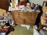 Small antique oak cabinet