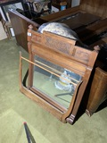 Antique mirror and towel bar