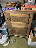 Antique Oak and Tin Lined Ice Box