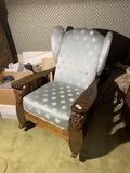 Unusual carved oak rocking chair