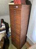 Tall vintage multi-drawer cabinet