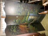 Antique hand-painted screen