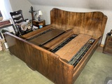 Large unusual Art Deco Era Bed