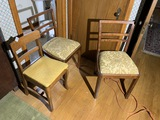 Group lot of 3 vintage chairs.