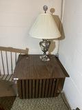 MCM Table + Italian Solid Marble Lamp