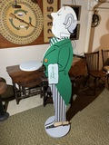 Vintage 6' tall Tanqueray Gin Advertising Wooden Sign