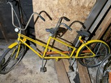 Vintage Huffy Yellow Tandem Bicycle