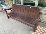 Vintage Rustic Wooden Bench