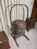 Antique Revolving Barrel Butter Churn