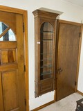 Antique Victorian Oak Wall Mounted Shelf Unit
