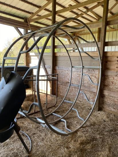 8' Metal Hay Ring Bale Feeder
