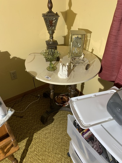 Vintage Table with marble or stone top