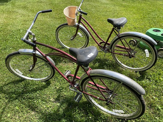Pair of Vintage Murray Monterey Beach Cruiser Bicycles