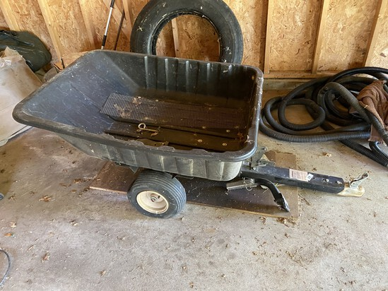 Plastic and metal mower utility dump cart