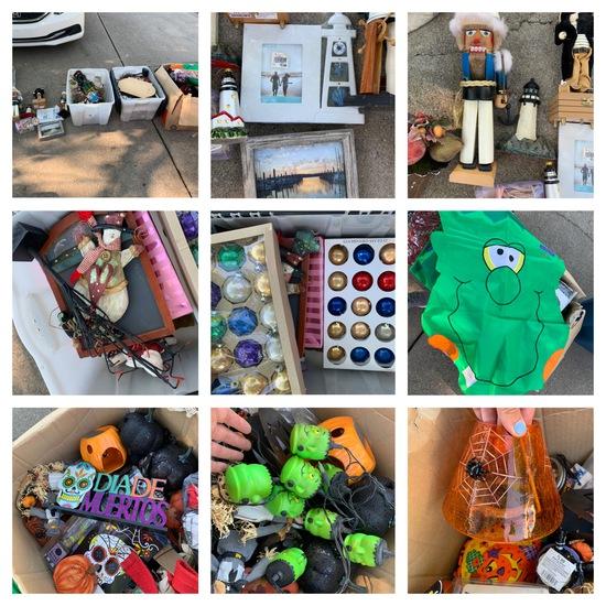 Group of Nautical Themed Items, Christmas Items, Halloween & More