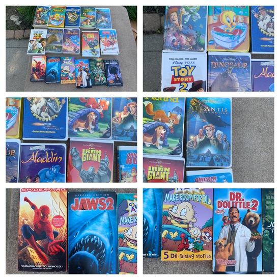 Group of VIntage VHS Tapes including Disney
