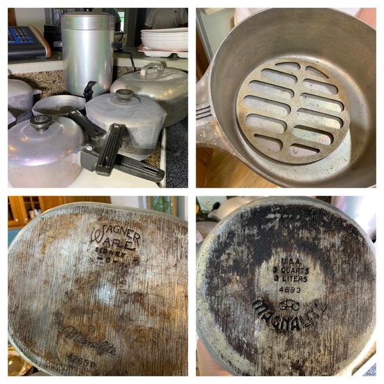 Vintage Magnalite Wagner Ware, Tea Pot & More