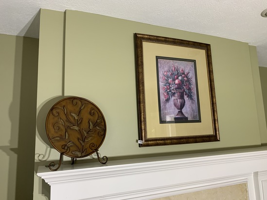 Decorative plate, stand and framed print