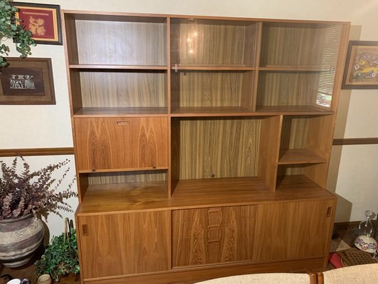 Mid Century Modern  Buffet with Bar.  No markings found
