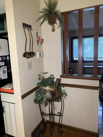 Plant Stand, Copper Drink Samplers, Hanging Basket, Wine Cask & More