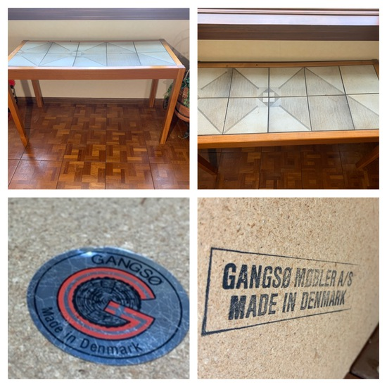 Gangso Tile Top Console Table Made in Denmark