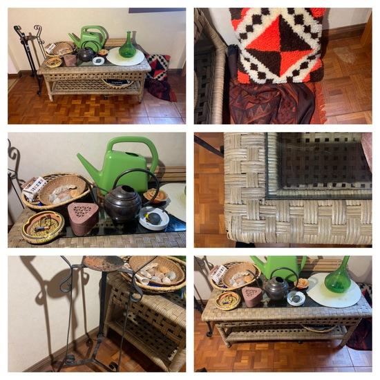 Cocktail Table, Stoneware, Textiles More