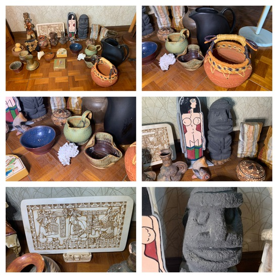 Great Stoneware Decorative Group, Coasters & More.  See Photos.