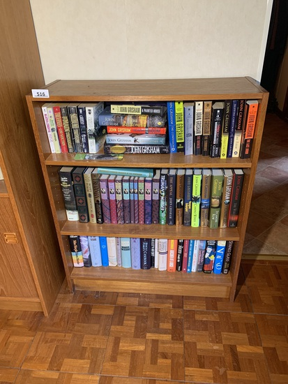 3 Tiered Bookshelf with Contents - Assortment of Agatha Christie Books & Many Other Mystery Books