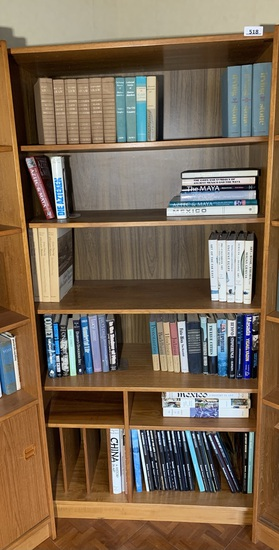 Mid Century Modern  Danish Style Book Shelf with Contents.
