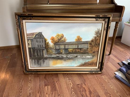 Oil on Canvas Framed Art