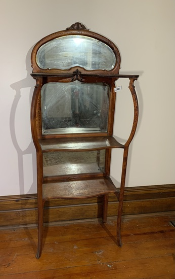 Victorian Server Shelf  with Mirrors