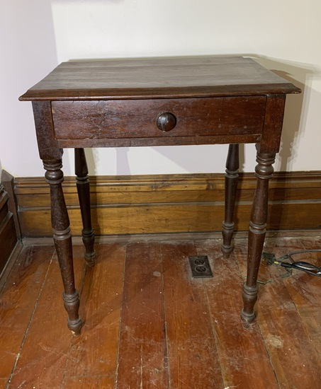 Primitive Antique One Drawer Table