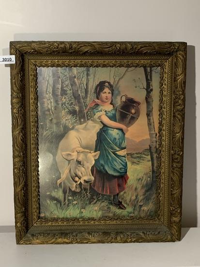 Antique Print in Frame