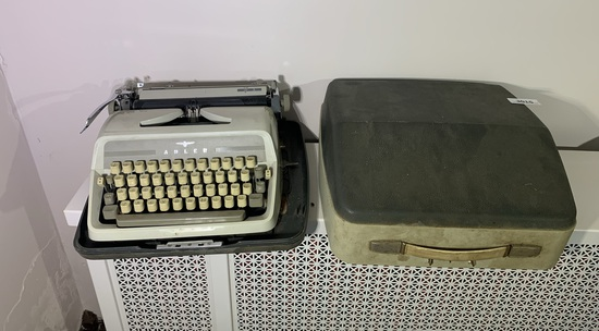 Adler Typewriter with Case