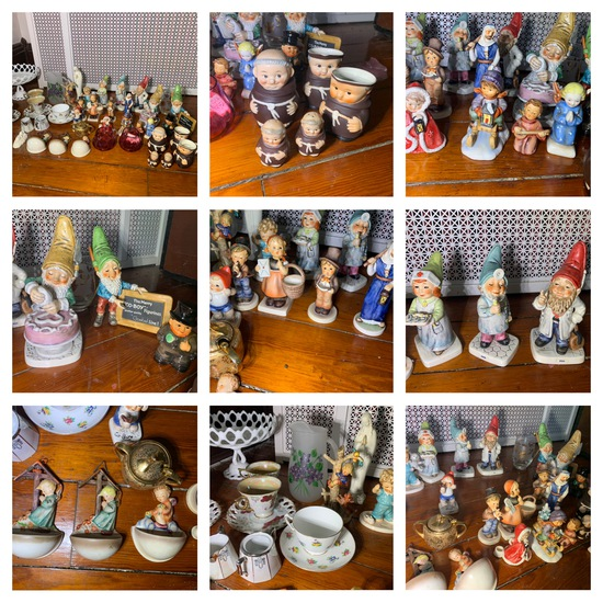 Group of Figurines - Early Goebel, CO-BOY by Goebel, Tea Cups, Glassware & more
