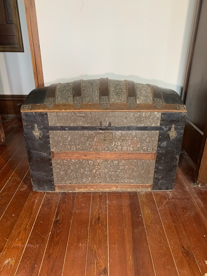 Stamped Tin Trunk