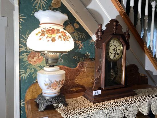 Vintage Lamp Plus Antique Clock