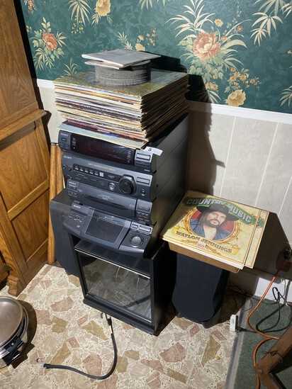 Records and stereo lot