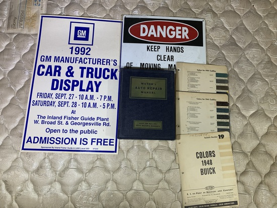 1992 GM Advertising, Auto Repair Book, Vintage Buick & Cadillac Reference Color Pages & More