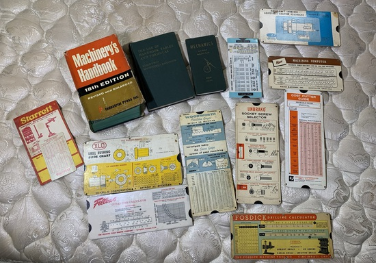 Machinist Hand Book & Group of Early Slide Calculators