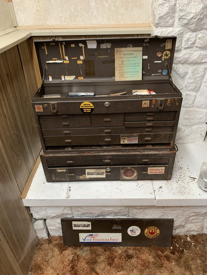 Kennedy All Steel Machinist's Tool Box with Contents