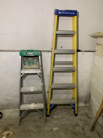 Louisville 6 Foot Ladder & Husky 4 Foot Ladder