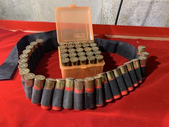 12 Gauge Winchester Shotgun Shells with Belt