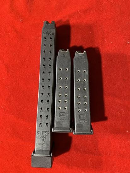 2 Glock .40 Magazines & 1 Scherer .40 Magazine