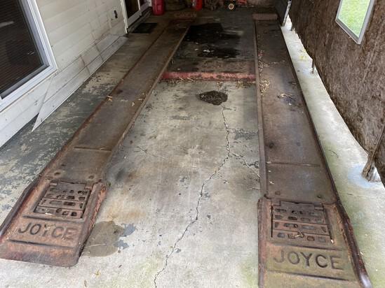 Vintage Heavy Joyce Car Lift ramps