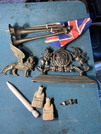 Group lot of Antique Items including English